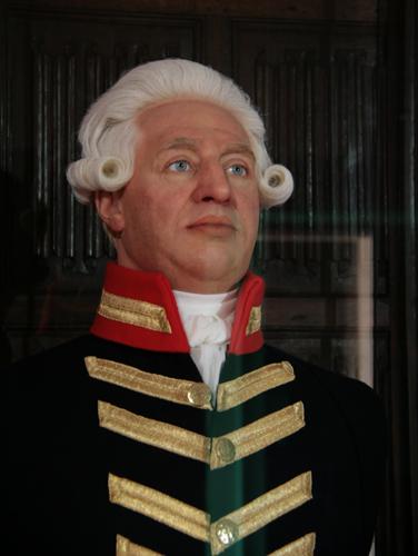 An amazingly life like impression of George III by Madame Tussaud