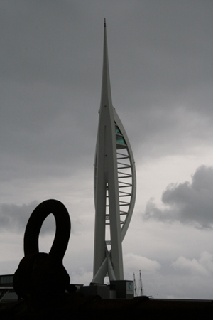 Spinnaker Tower in Portsmouth, near the Historic Naval Dockyards.