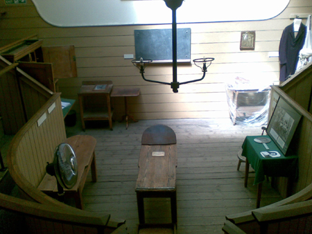 Wooden Operating Theatre, with galleries. Accidentally discovered in mid-1950s.