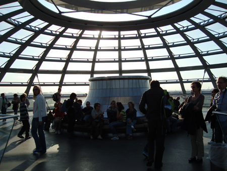 Not only is the top of the dome stunning, you also get a stunning view of the city.