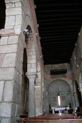 Interior of granite church