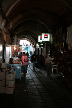 Dark alleyways.