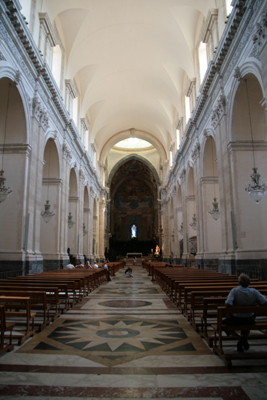 Looking down the nave of the Duomo.