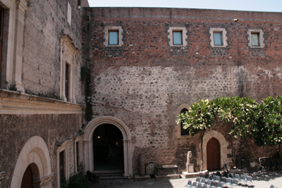 Internal courtyard of castle.