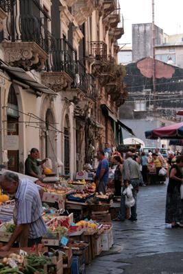 Market streetscape.