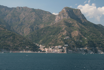 Cruising past the Amalfi Coast